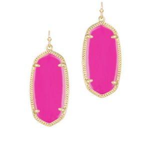 Pink Kendra Scott earrings gold drop